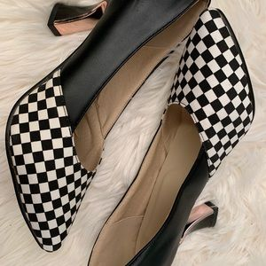 Shoes - Jinpin Retro heel black & white sz 10.5
